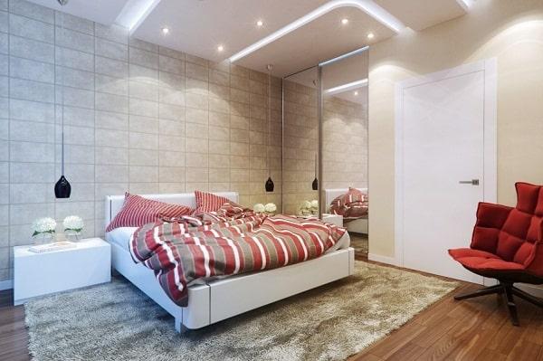 gạc ốp tường  phòng ngủ