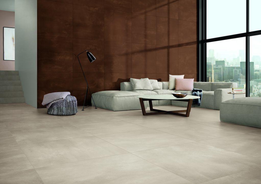 Kết hợp gạch lát nền và tường để có cái nhìn hài hòa