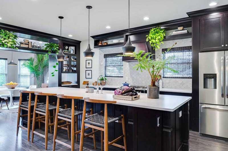 Cây xanh sẽ là xu hướng thiết kế nhà bếp 2021