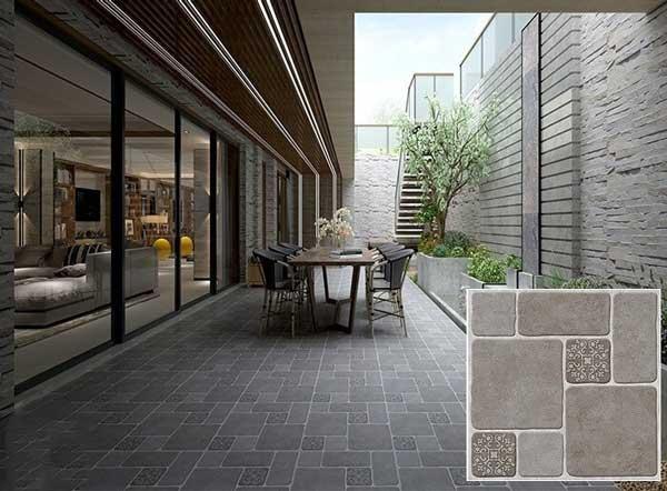 20+ mẫu gạch lát sân vườn màu xám đẹp - chống trơn tốt nhất 2021 6