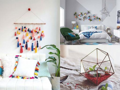 Ý tưởng trang trí tường phòng ngủ ấn tượng, tiết kiệm chi phí 4