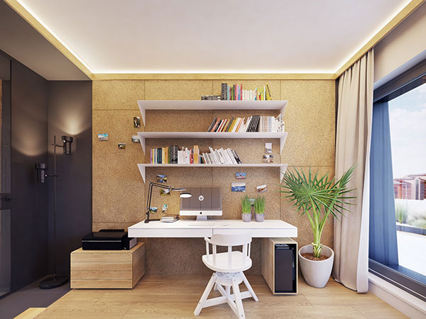 10++ thiết kế phòng làm việc giúp bạn TẬP TRUNG HƠN 11