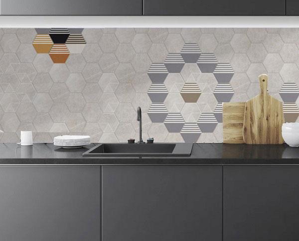 Mãn nhãn với TOP mẫu gạch ốp bếp lục giác đẹp ấn tượng 1